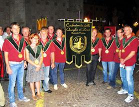 Confraternita di Levà alla sfilata della Rua a Vicenza